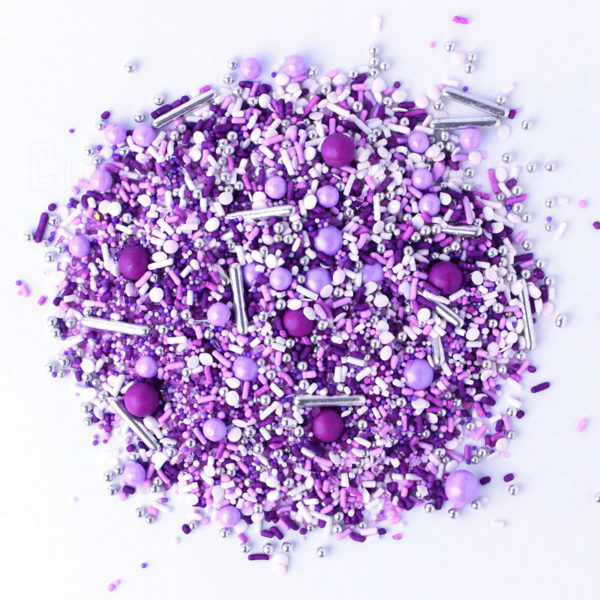 Purple rain, cupcake follies sprinkles